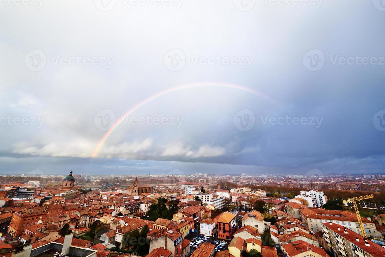 Rainbow above Toulouse photo