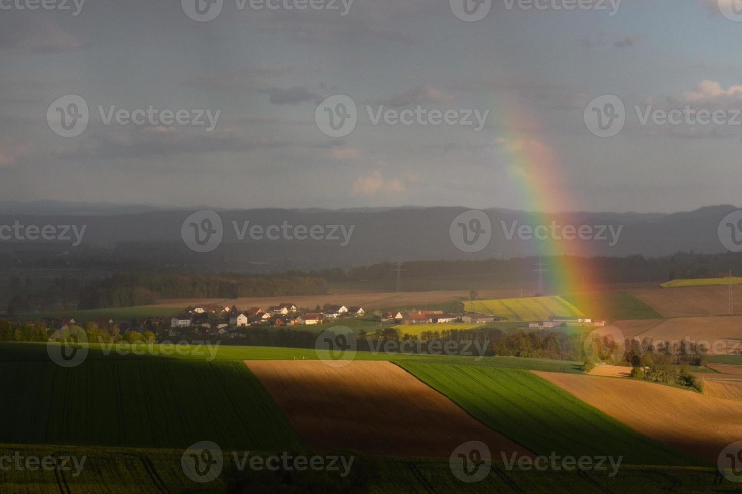 arcoiris en primavera foto