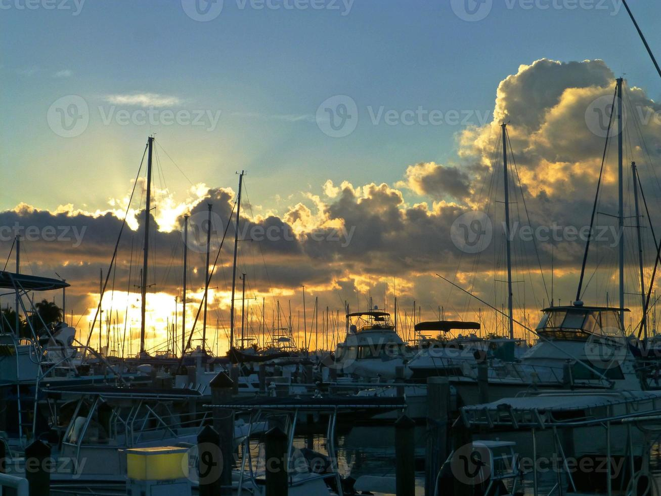 Dawn at Dinner Key Marina photo