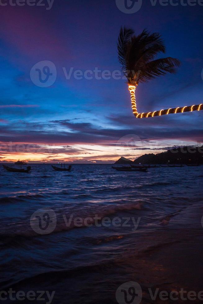 Sunset on Ko Tao photo