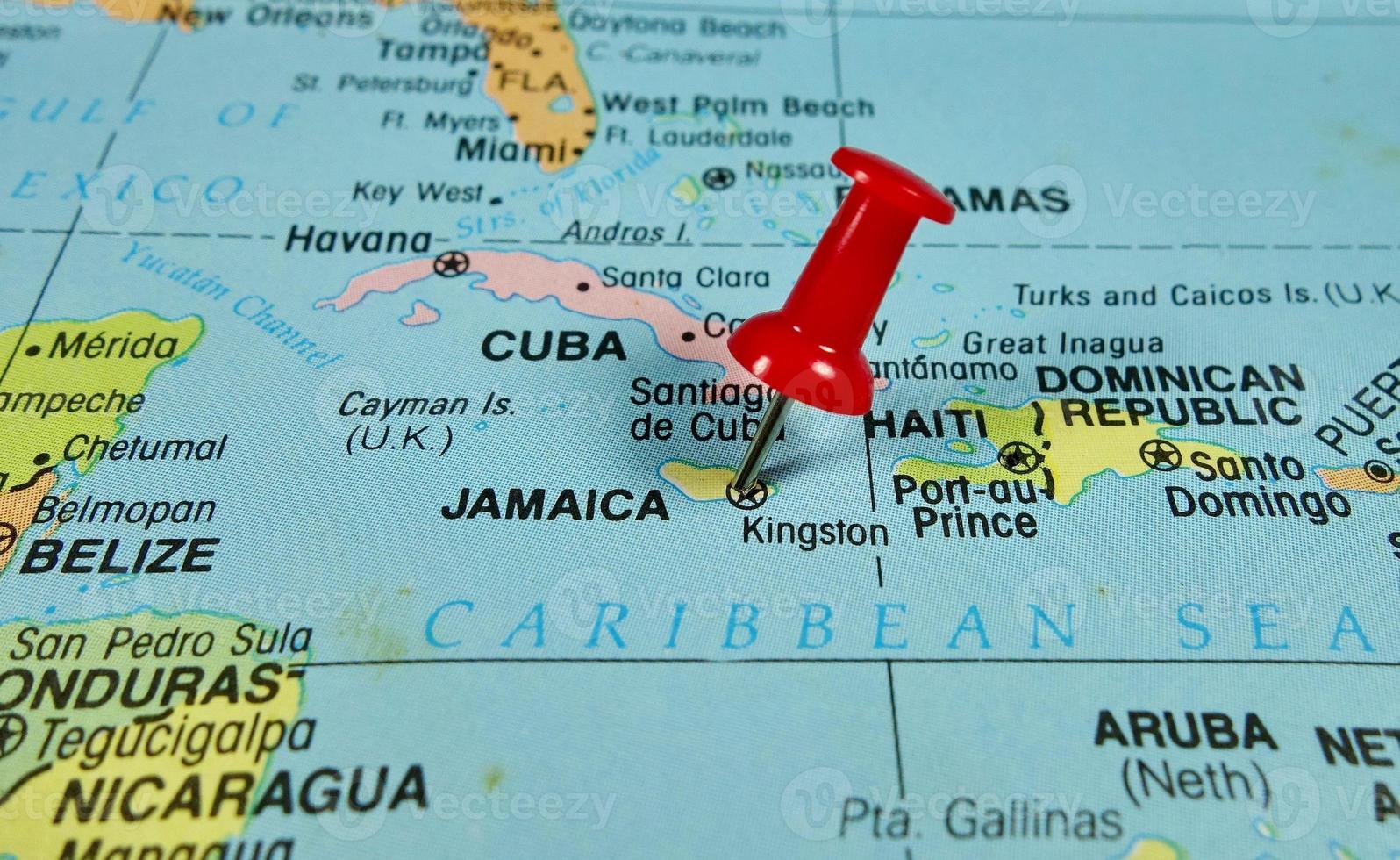 mapa de jamaica foto
