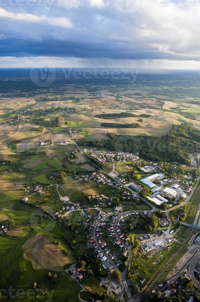 foto aérea de tierras de cultivo