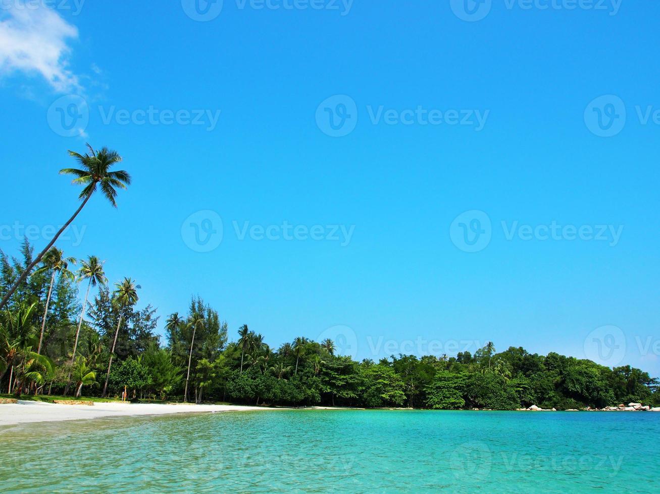 Sandy beach in Indonesia photo