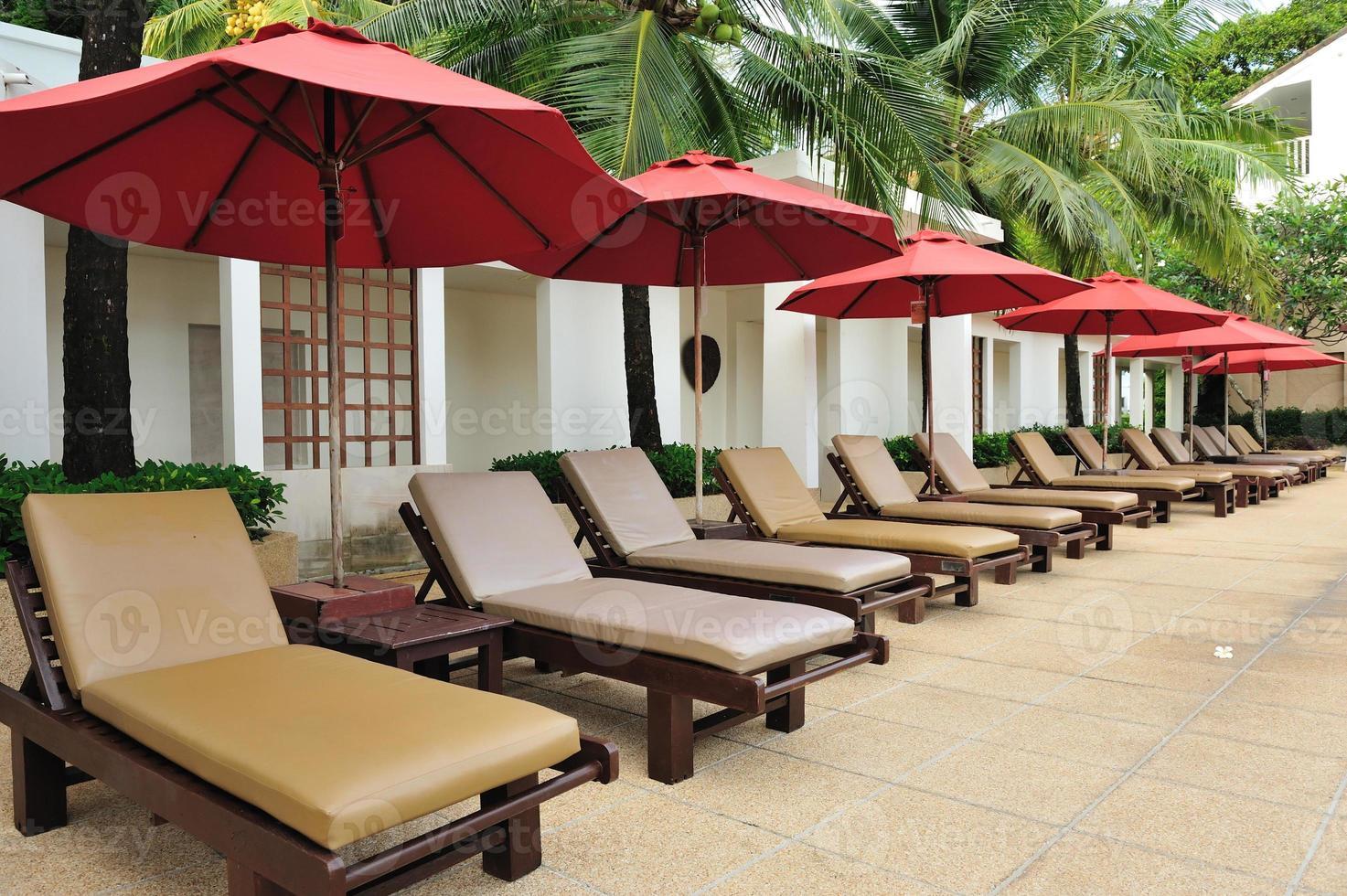 silla de playa tropical foto