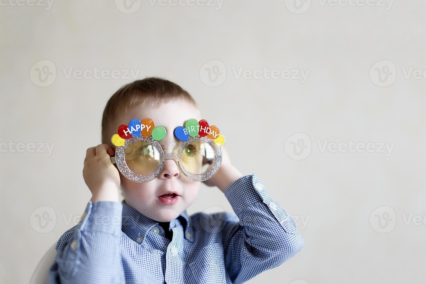 boy celebrates his birthday photo