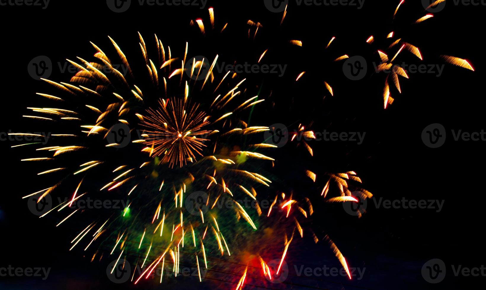 Brightly colorful fireworks and salute photo