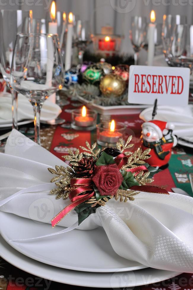Fragment serving Christmas table photo