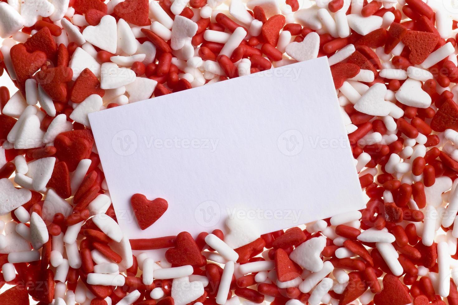 Valentine heart sprinkles photo