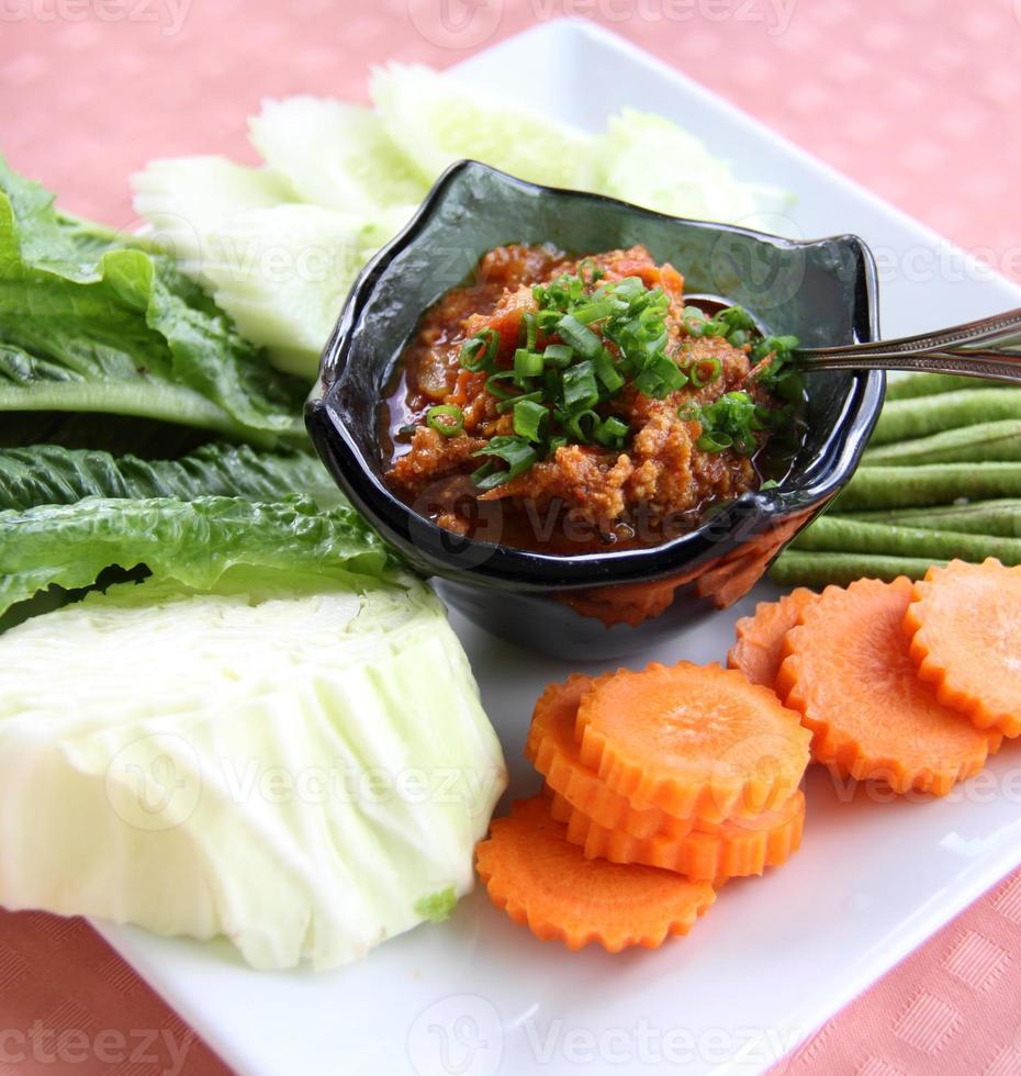 salsa de chile tailandés foto
