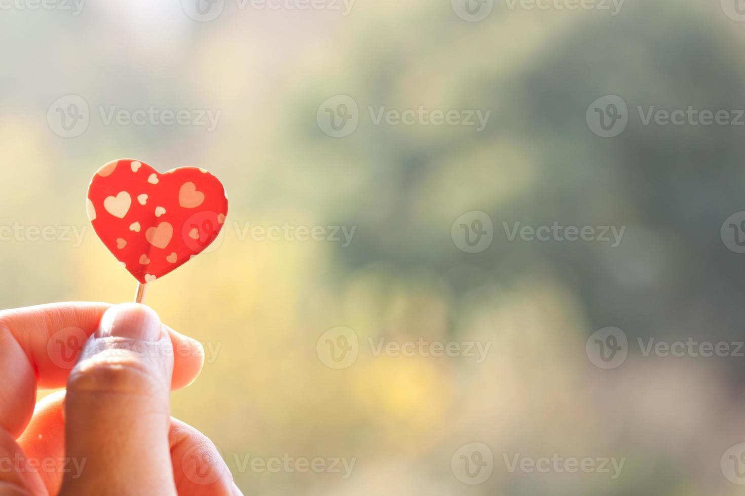 sosteniendo el corazón foto