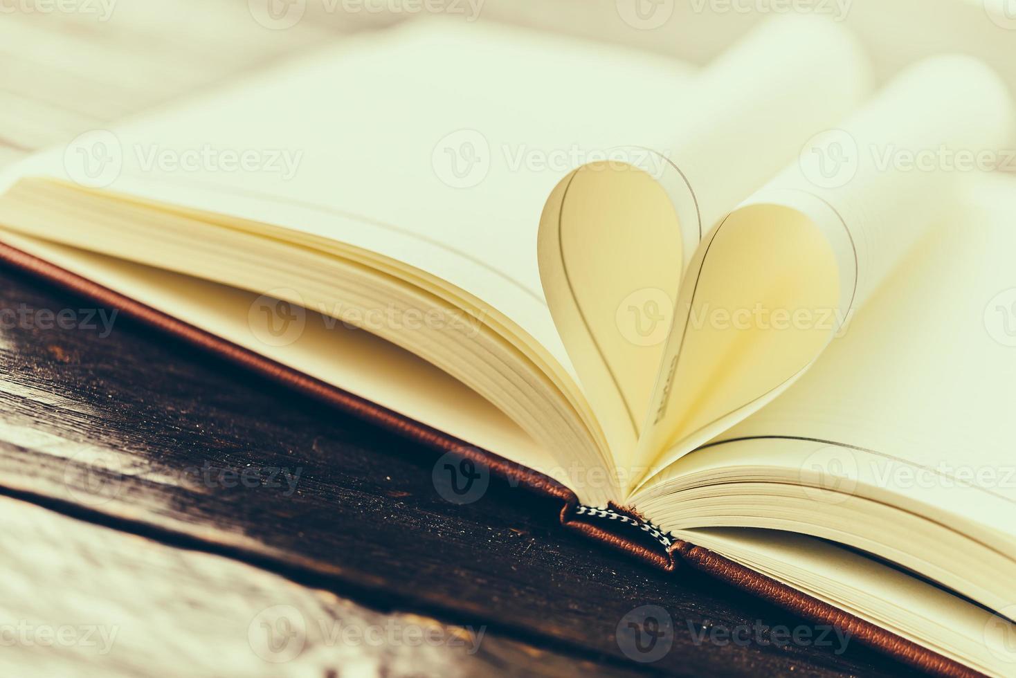 Heart book photo