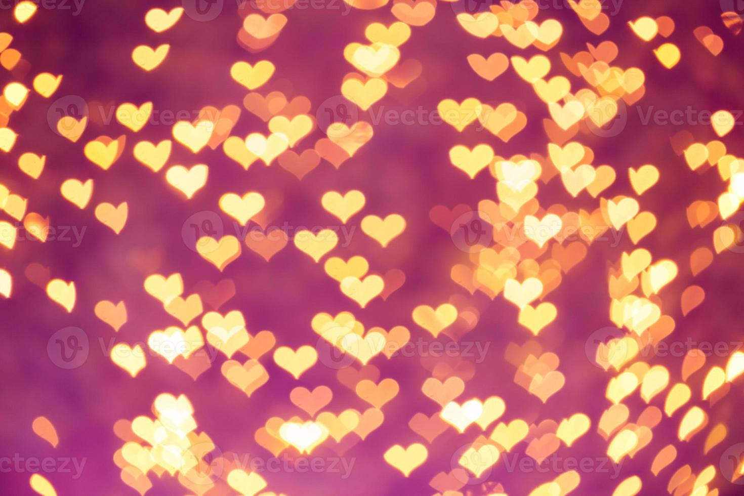 bokeh hearts photo