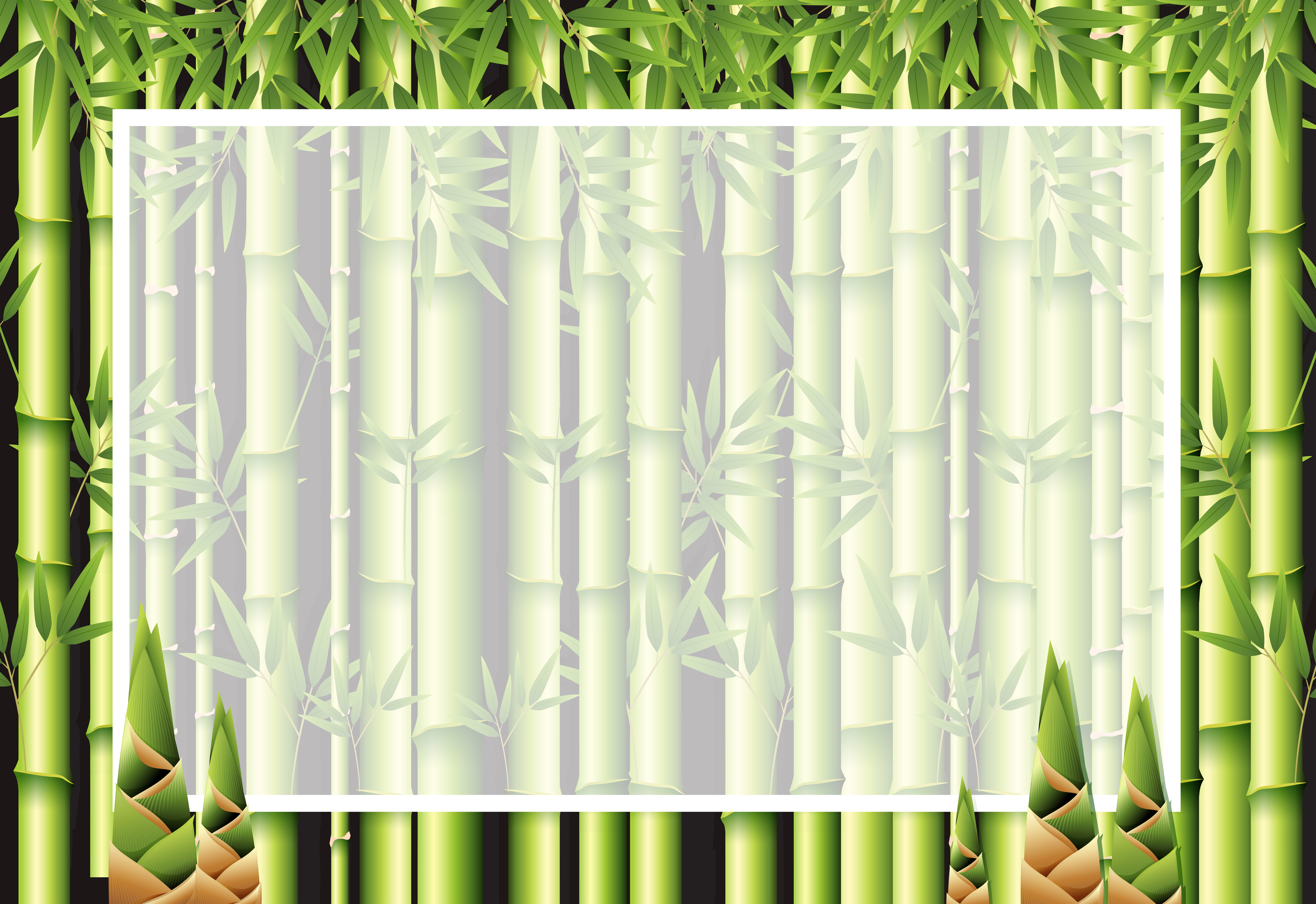 beautiful nature bamboo frame template download free vectors clipart graphics vector art vecteezy