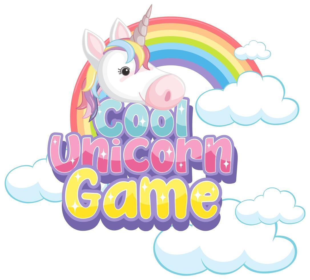 Unicorn icon on white background vector