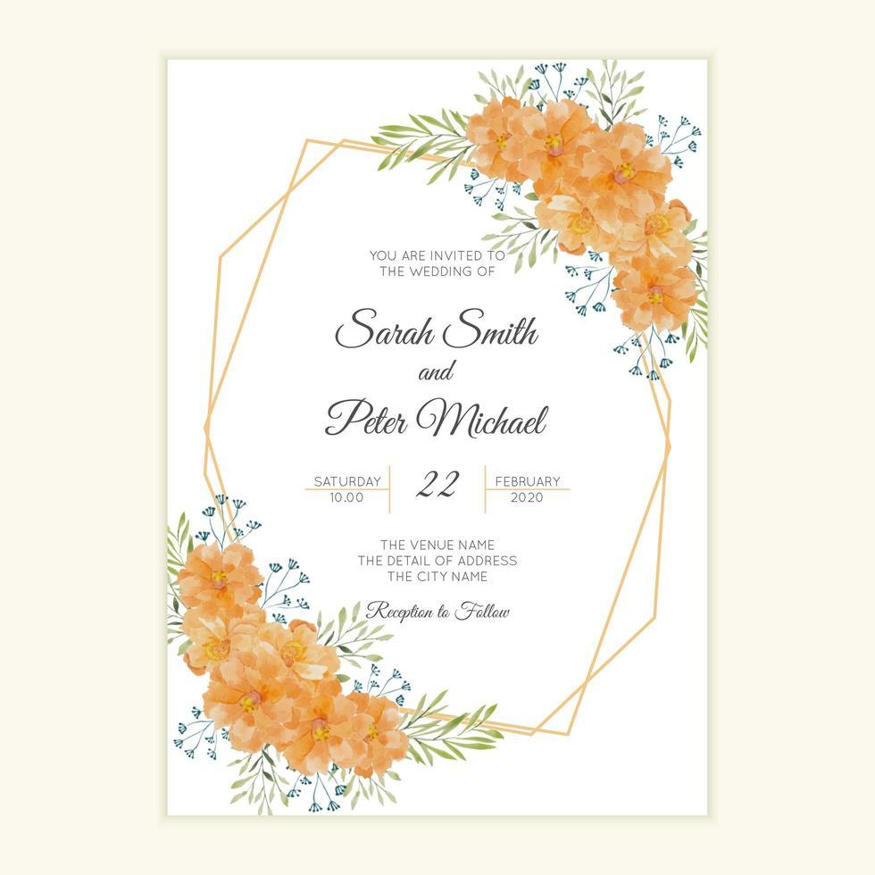 Rustic wedding invitation card  vector