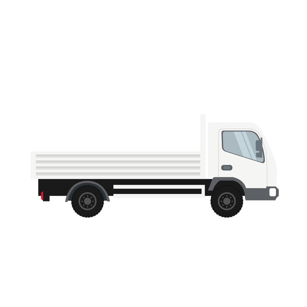 Cargo Truck in White Heavy Traffic Vehicle vector