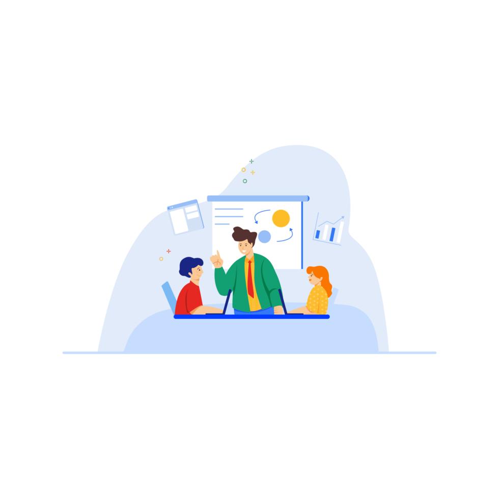Team work meeting in office vector