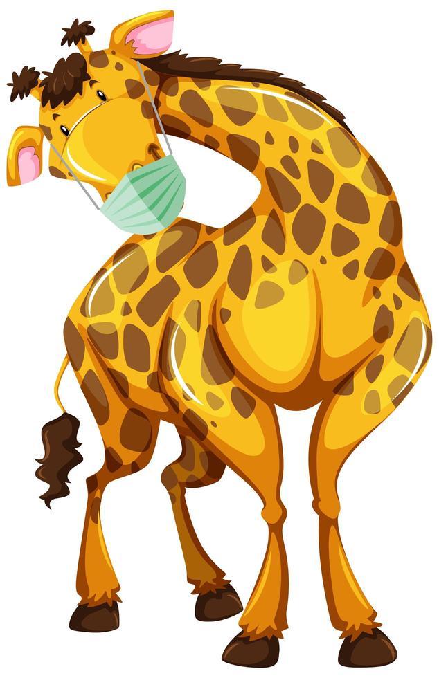 Giraffe cartoon character wearing a mask - Download Free ... (634 x 980 Pixel)