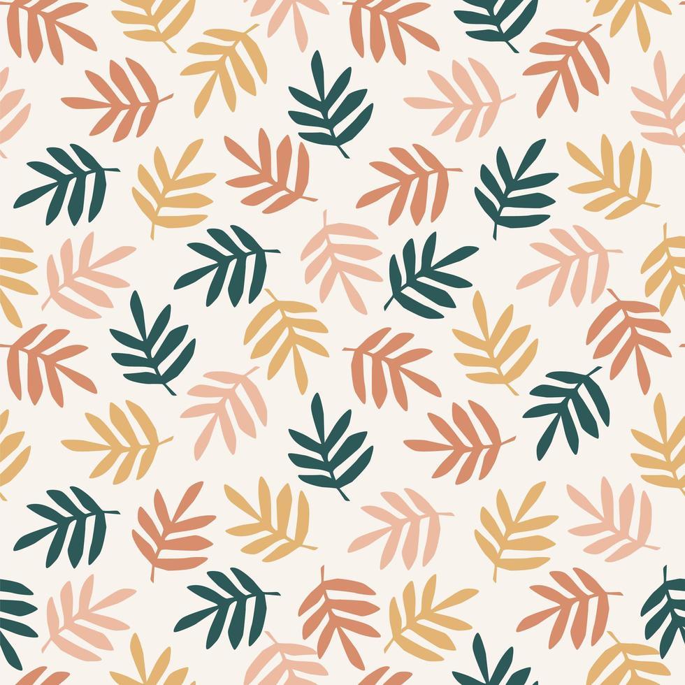Simple leaves seamless pattern vector