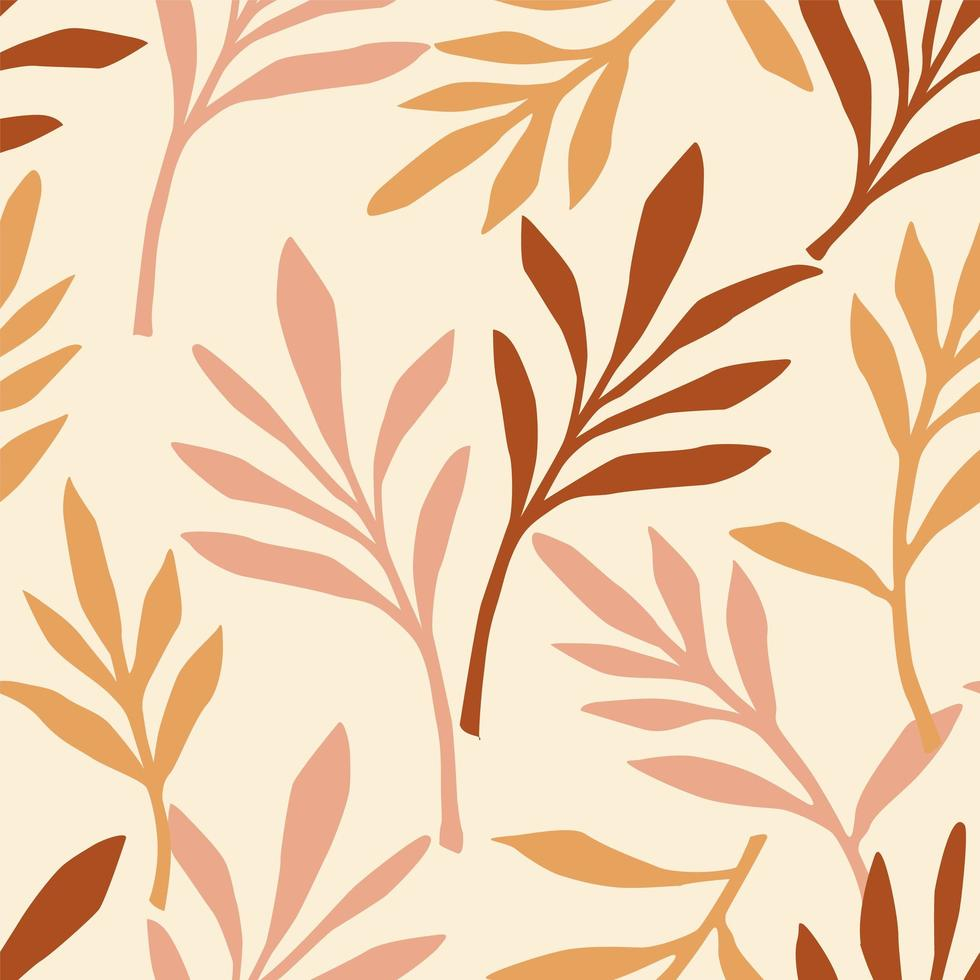 Simple foliage seamless pattern vector