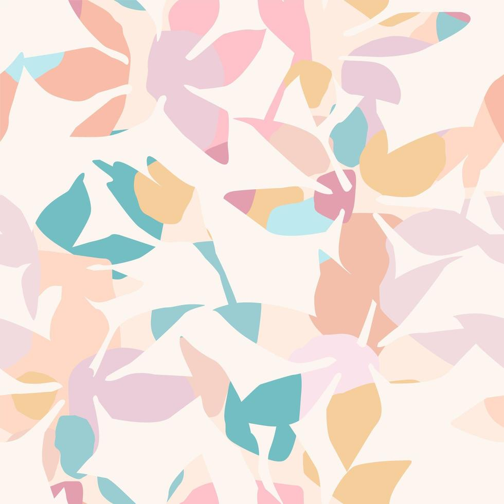 Artistic seamless pattern with abstract flowers  vector