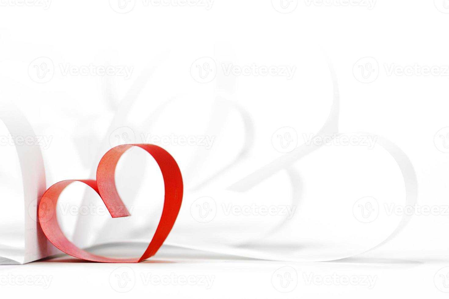 Paper hearts photo