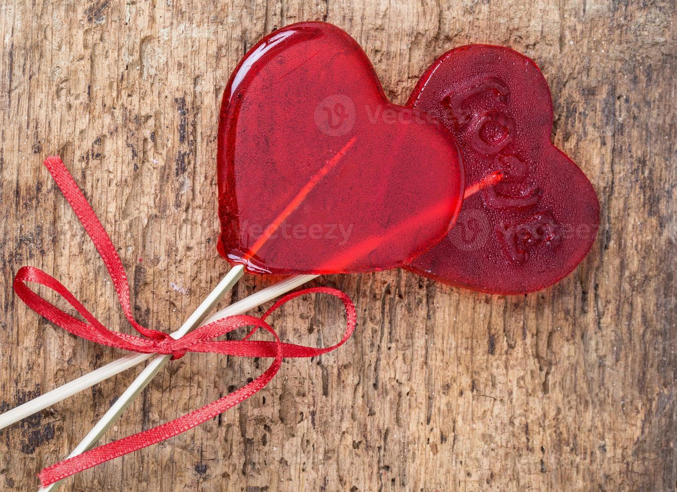 heart shaped candies photo