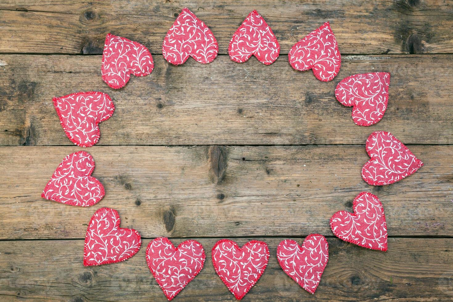 Red Fabric hearts photo