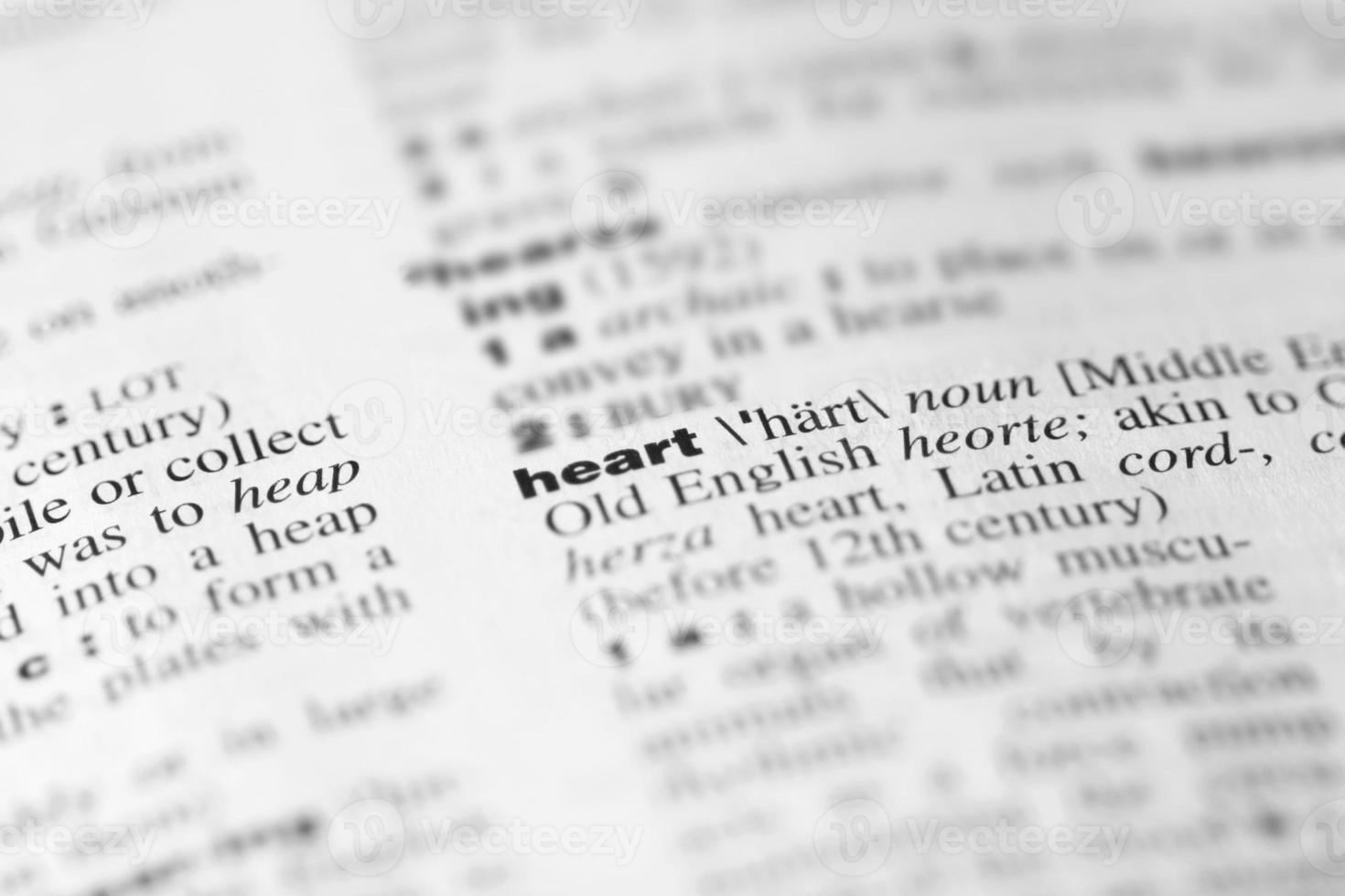 "Dictionary Word ""heart"" photo"