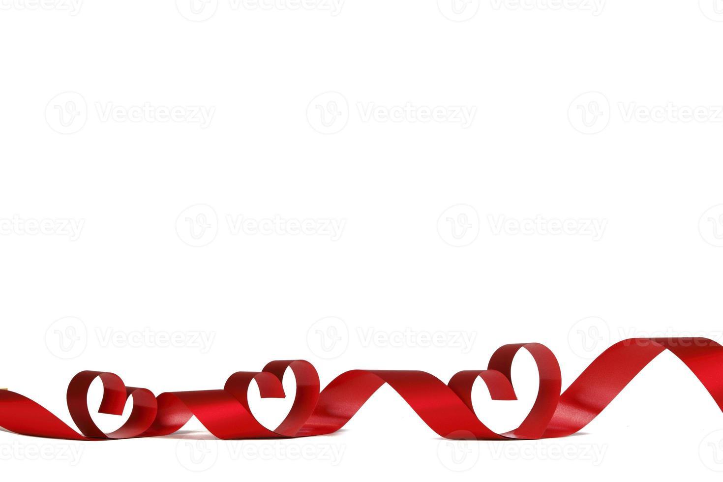 Ribbon hearts frame photo