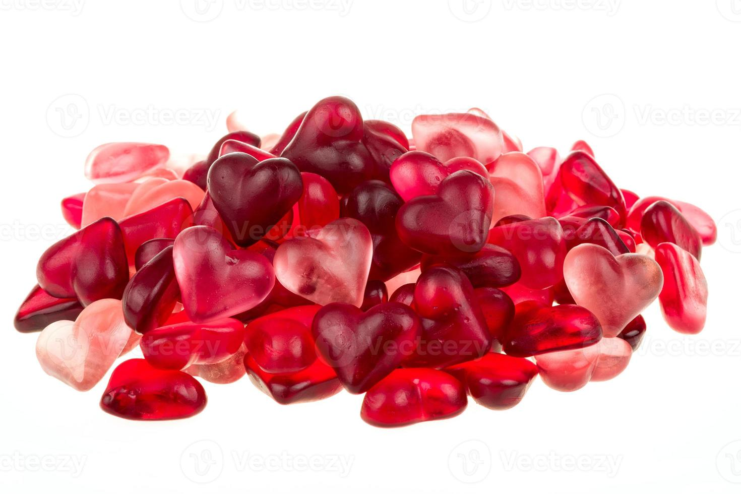 Brightly coloured red gums hearts photo
