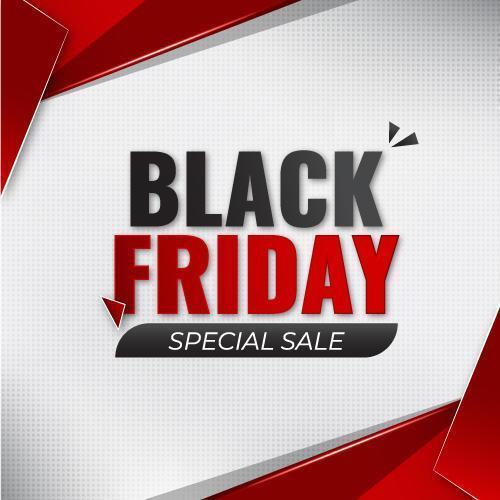 Black friday special sale banner vector