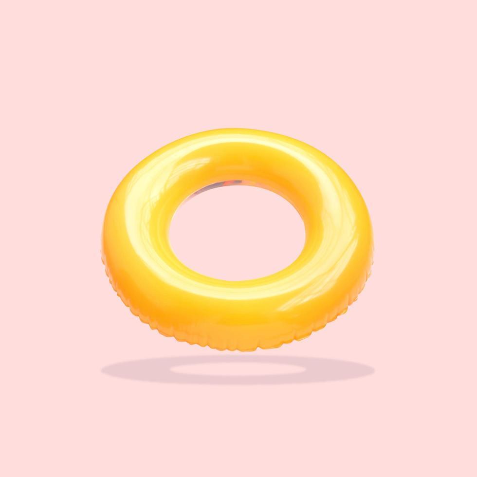 anneau de bain jaune photo