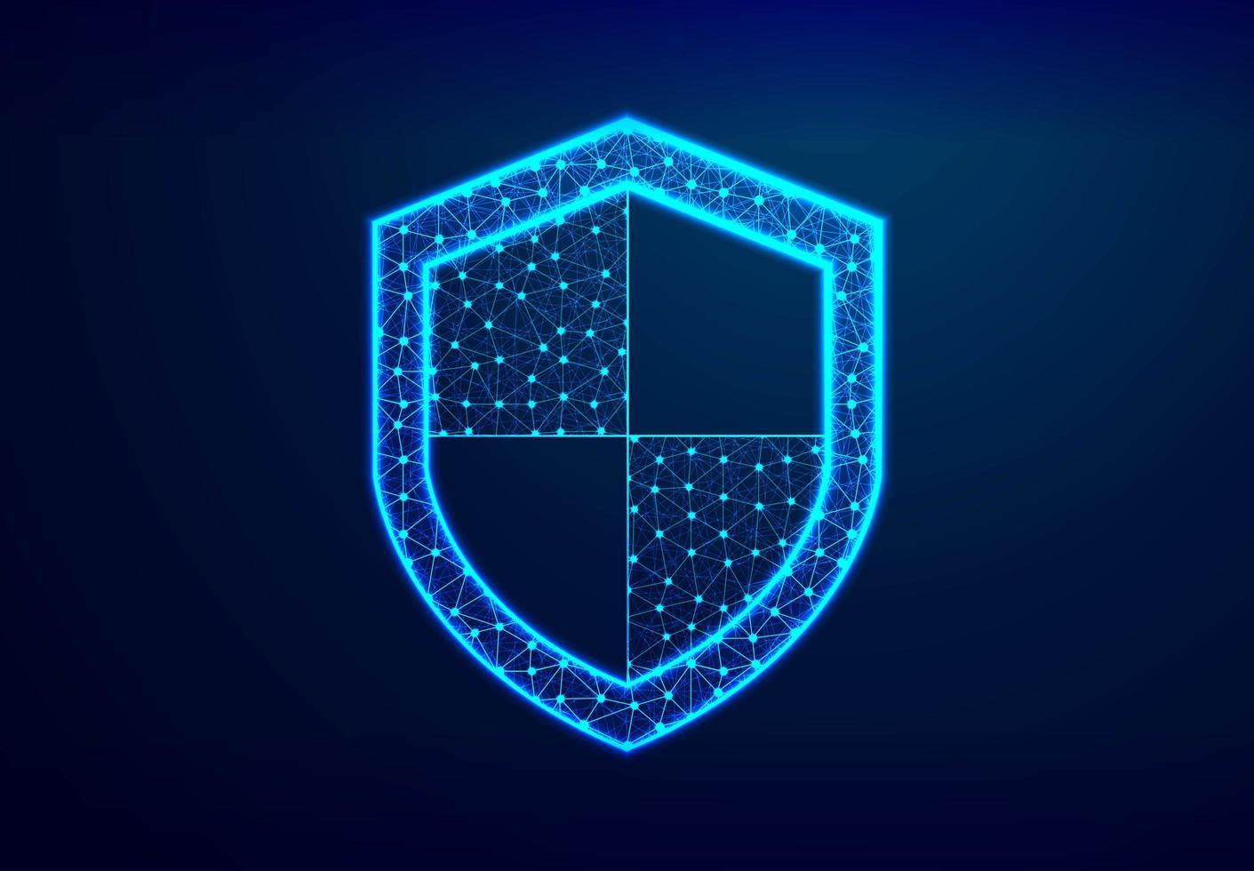 escudo conceito de segurança antídoto crime cibernético na internet vetor