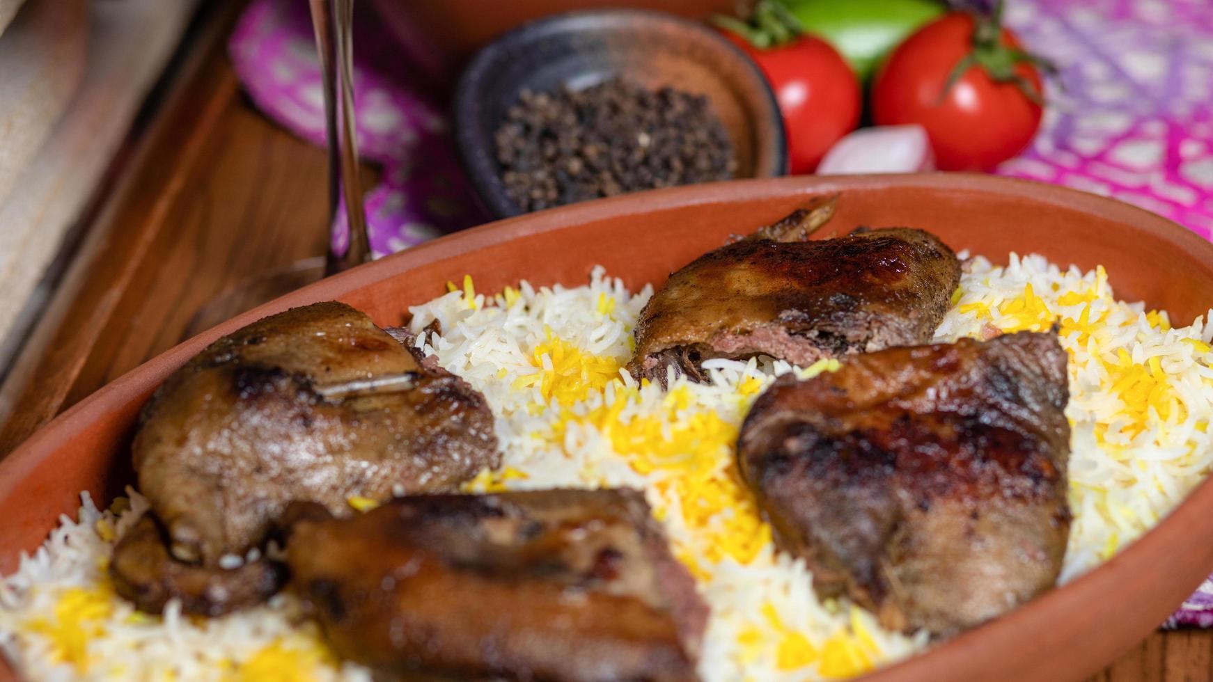 folaga alla griglia su riso foto