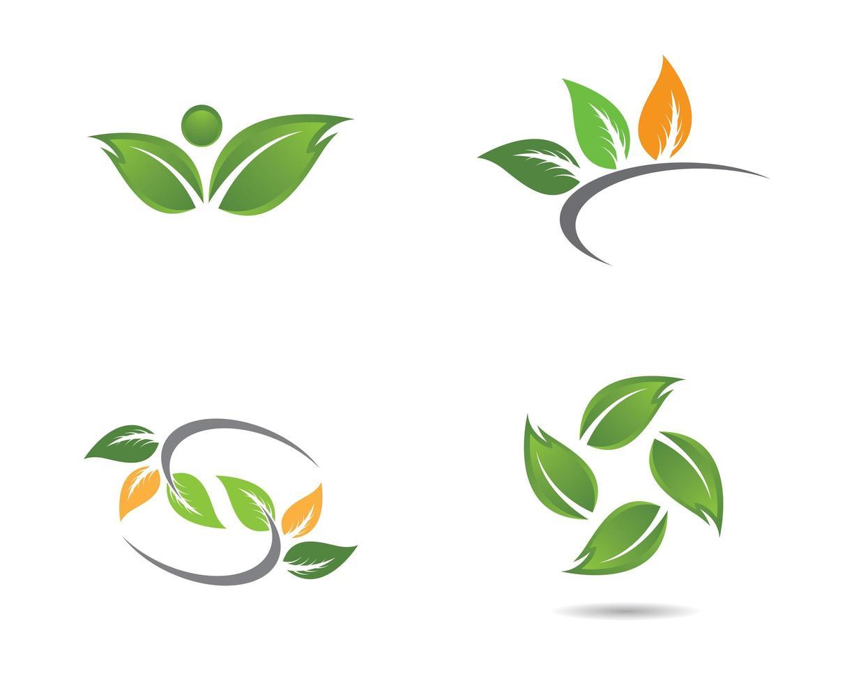 diseños de icono de hoja de ecología vector