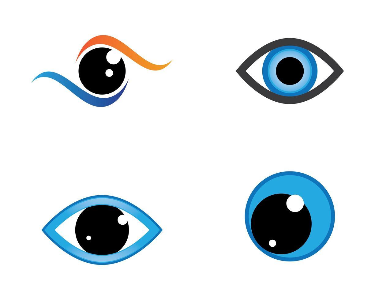 conjunto de símbolos de olho vetor
