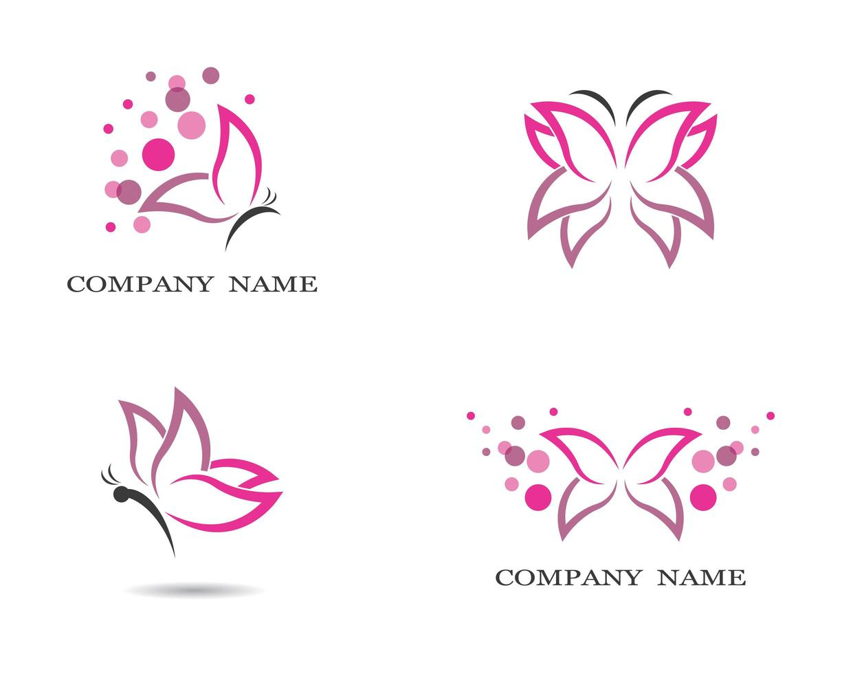 vlinder pictogramserie vector