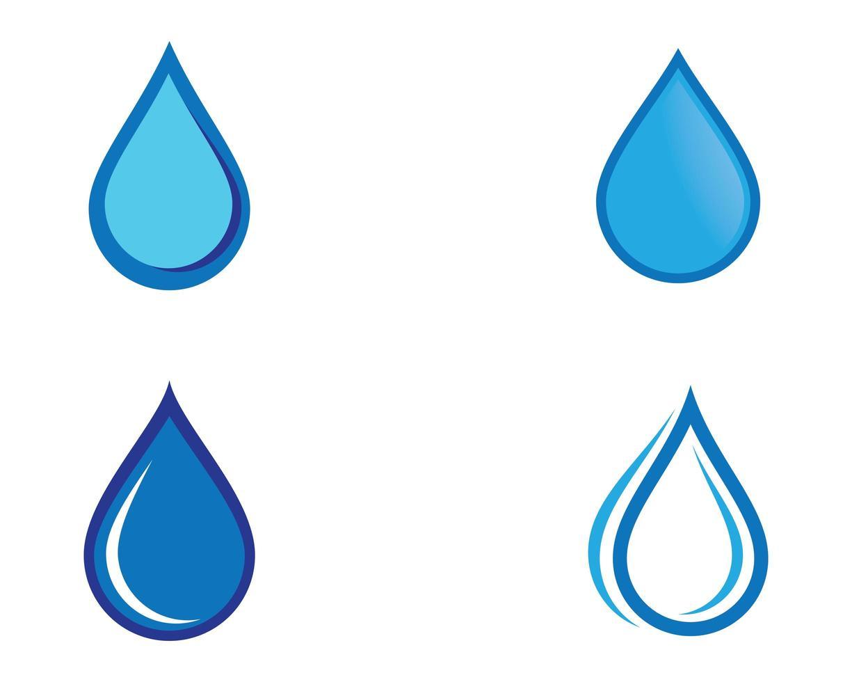 conjunto de gota d'água vetor