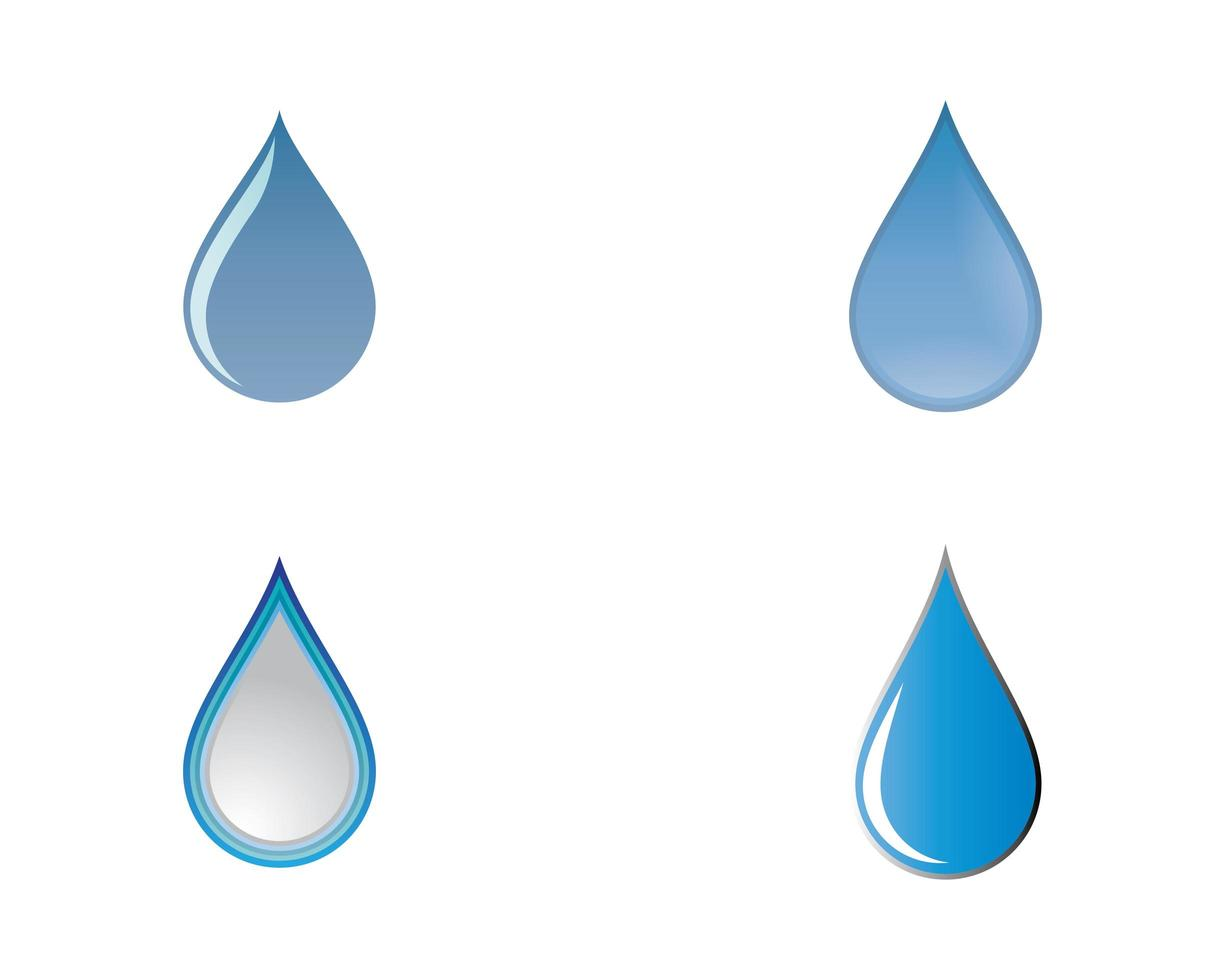waterdruppelset vector