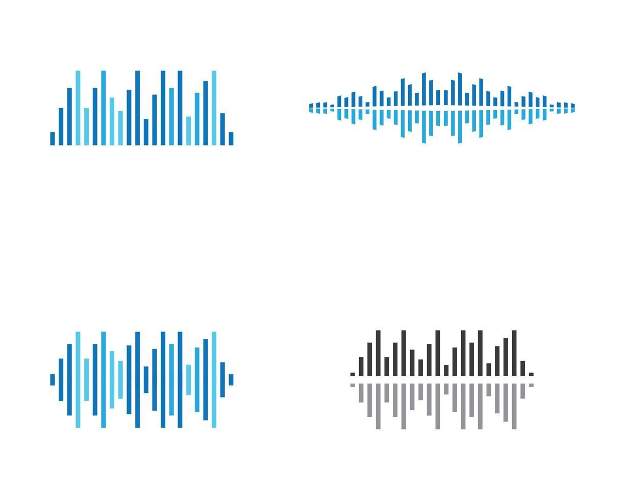 conjunto de ondas de sonido vector