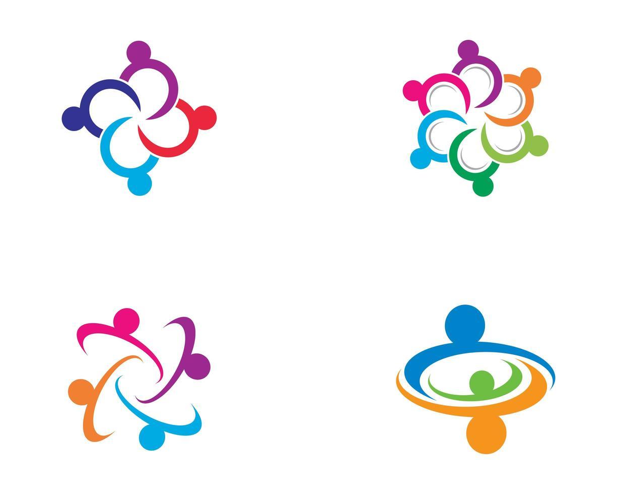 gemeenschap logo ontwerpset vector