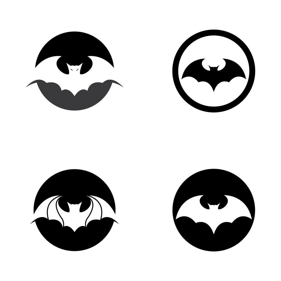 ensemble de conception de logo de chauve-souris vecteur