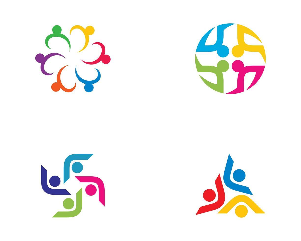 conjunto de ícones da comunidade vetor