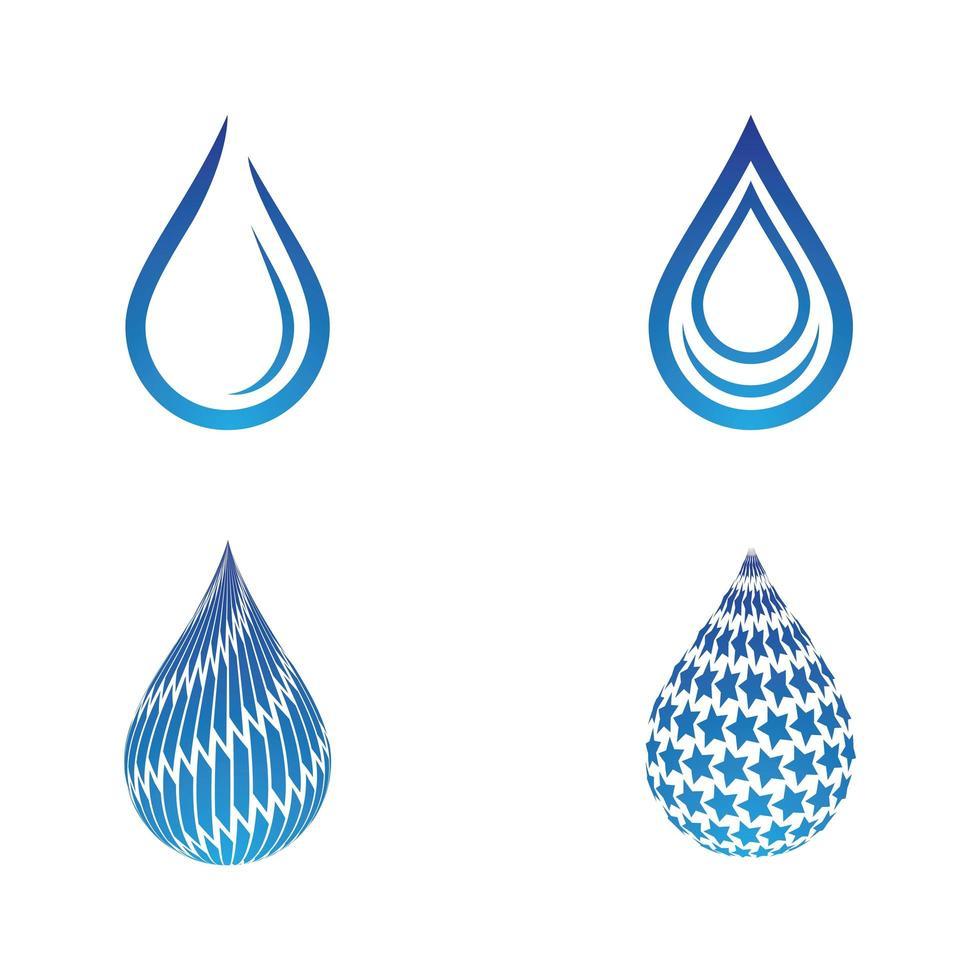 waterdruppel logo set vector