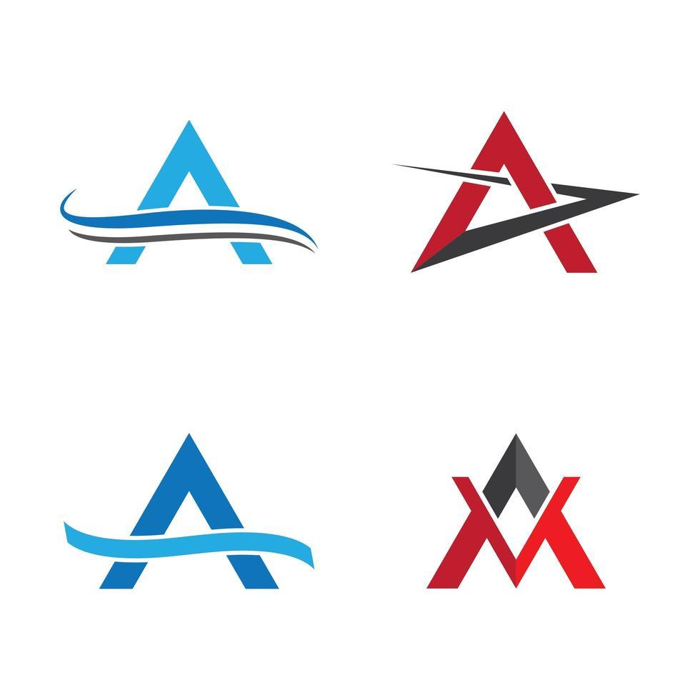 letra a conjunto de logotipos vector