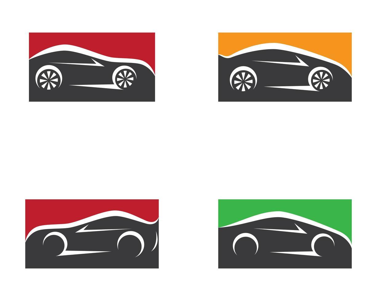 conjunto de símbolo de coche vector