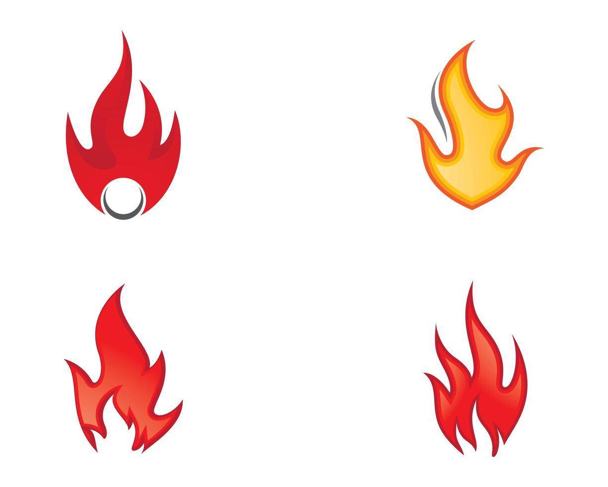 vuur symbool pictogrammen vector