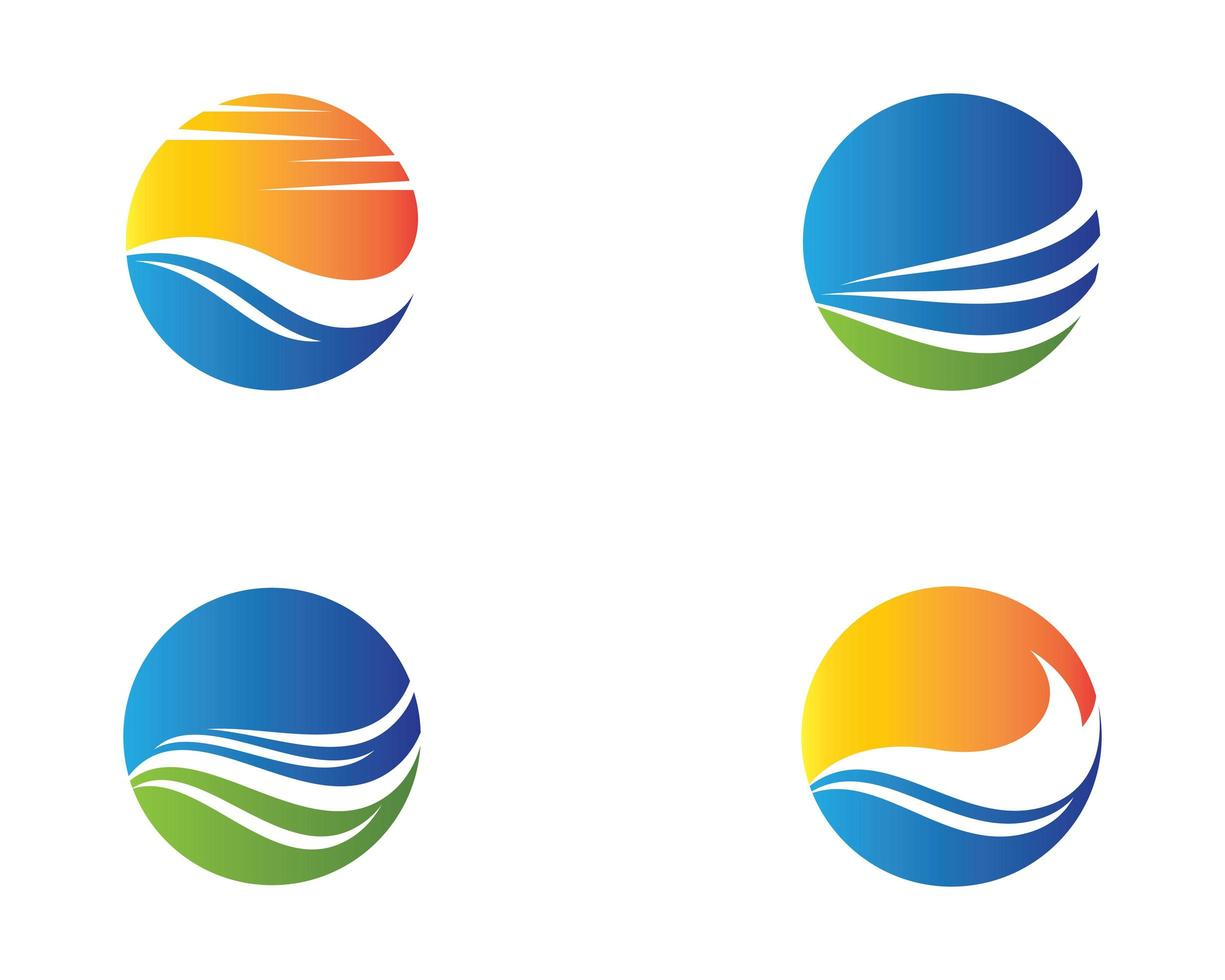 conjunto de logotipo do círculo de verão vetor