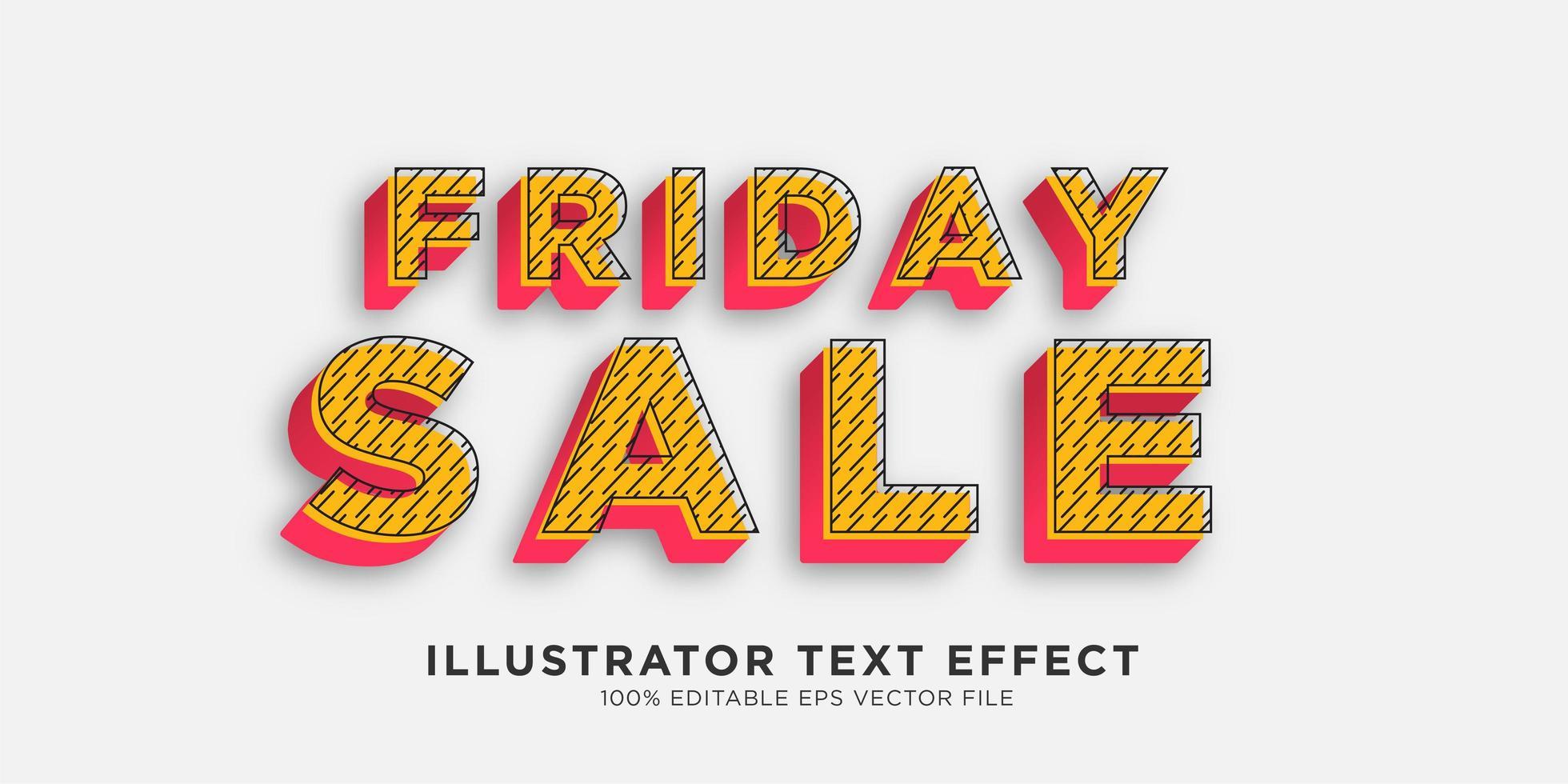 efecto de texto efecto de estilo ilustrador vector